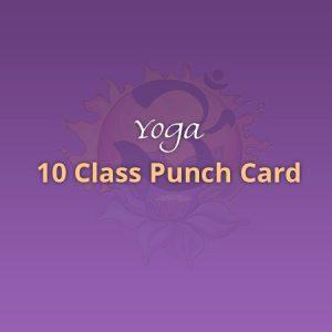 Yoga 10 Class Punch Card