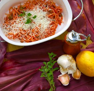 Photo From: Pasta with Sweet Peppers and Tomato Sauce