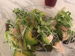 Photo From: Grab & go Lunch featuring Chicken or Fish, lettuce, and Avo